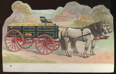 1890S Die Cut Trade Card Advertising Moline Wagon Co. Moline, Il.