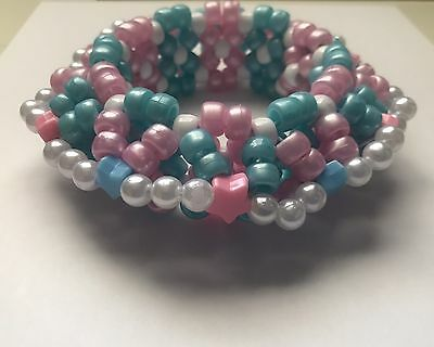 Blue And Pink 3D Kandi Cuff EDC, Nocturnal, Dreamstate, Raves, Ultra