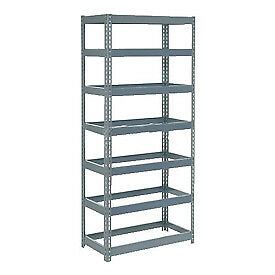 """Extra Heavy Duty Shelving 36""""W x 12""""D x 84""""H With 7 Shelves, No Deck"""