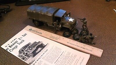 Built 1957 Vintage MONOGRAM MODELS US ARMY EAGER BEAVER Truck PM22 Model Kit