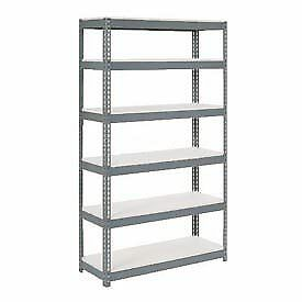 """Extra Heavy Duty Shelving 48""""W x 12""""D x 96""""H With 6 Shelves, 1500 lbs. Capacity"""