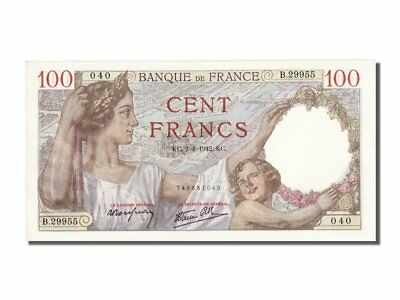 [#100767] France, 100 Francs, 100 F 1939-1942 ''Sully'', 1942, KM #94