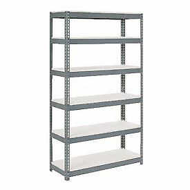 """Extra Heavy Duty Shelving 48""""W x 12""""D x 84""""H With 6 Shelves, 1500 lbs. Capacity"""