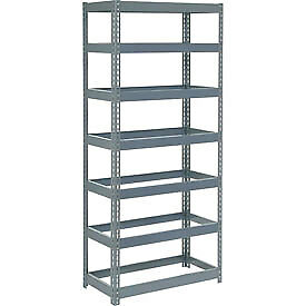 """Extra Heavy Duty Shelving 36""""W x 24""""D x 96""""H With 7 Shelves, No Deck"""