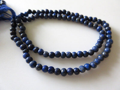 Lapis Lazuli Smooth Round Beads, 4mm Round Beads, 13.5 Inch Strand, GDS476