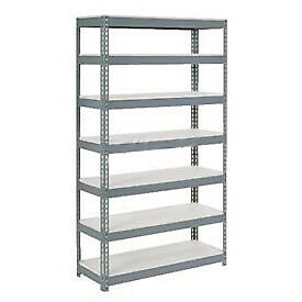 """Extra Heavy Duty Shelving 48""""W x 18""""D x 84""""H With 7 Shelves, 1500 lbs. Capacity"""