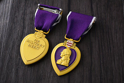 Full Size Purple Heart medal  Mint condition Replica Movie props