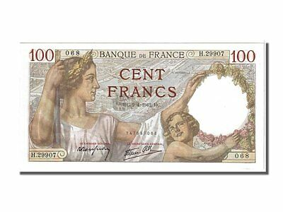 [#104025] France, 100 Francs, 100 F 1939-1942 ''Sully'', 1942, KM #94