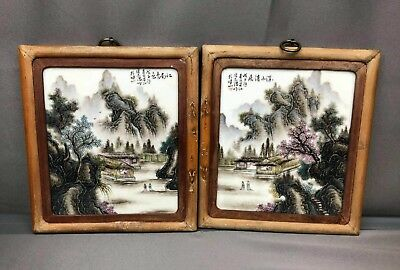 Wonderful Pair Of Antiques Chinese Porcelain Screen Tables