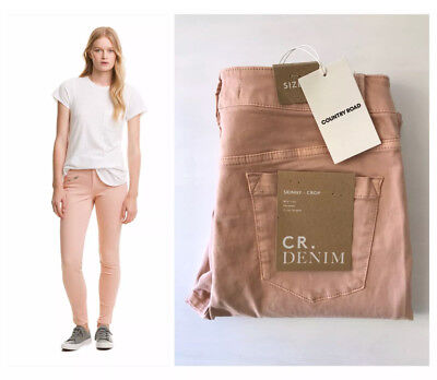 COUNTRY ROAD::[CR LOVE] NEW! [SZ 10,12,14,16] zip sateen jean dust pink S,M,L,XL