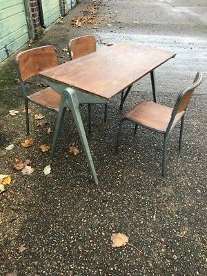 1960's Designer Table by James Leonard plus chairs