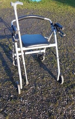 Aluminum Rollator, walking aid, Reha Mobile with Seat and Walking Stick