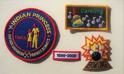 Lot of (4) Unused YMCA INDIAN GUIDE PATCHES Y-Indian Princess Father-Daughter