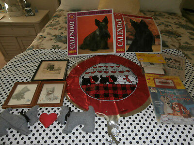 """10PC SCOTTISH TERRIER~SCOTTIE DOG LOT~mostly VINTAGE """"SMOKE FREE"""" YOU'RE WELCOME"""