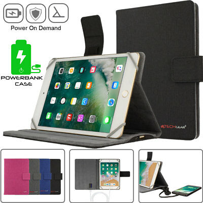 Apple iPad Mini 5 4 3 2 Folio Stand Case Cover with Built-in Power Bank Battery