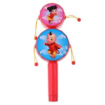 Balance Drum Rattle Drum Musical Instrument Toy for Kids Toddler 23cm Length