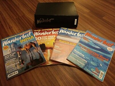 Wanderlust magazine editions 12 to 133 inclusive plus 12 official binders.