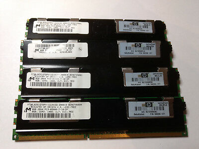 RAM 32GB  (4 x 8GB) 2Rx4 PC3-8500R-7-10-DP DDR3, 1066, CL7, EEC, REG