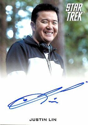 Star Trek Beyond  FULL BLEED AUTOGRAPH CARD of JUSTIN LIN Director