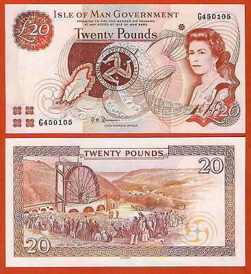 P45b   Isle of MAN   20 Pound  2002  UNC