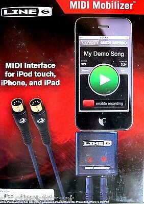 Line 6 MIDI Mobilizer   New In Box  for older 30-pin iOS  iPod / iPhone / iPad