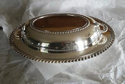 Wilcox Int. Silver Silverplate Casserole Bowl & Tray Ashley  Oval