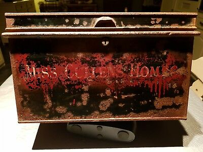 Old metal Miss Cullen Homes deed box