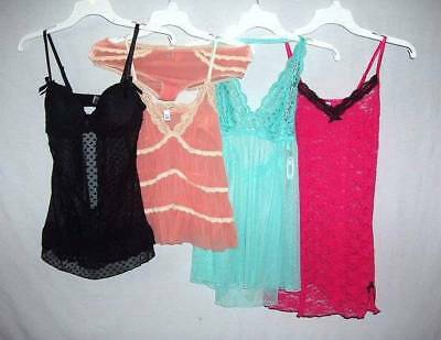 Lot 5 Pc Nwt Babydoll Panty Lacy Spandex Stretch Sexy Chemise Nightgown S   #10
