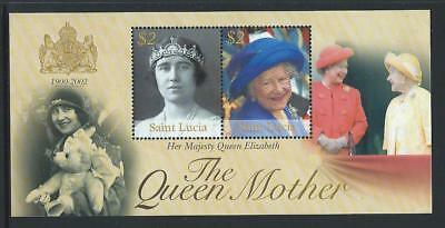 2002 ST.LUCIA Queen Mother Minisheet MNH (SG MS1269)