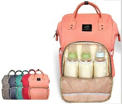 Maternity Bag Nappy Baby Mummy Diaper Backpack Large Travel Capacity Us Lequeen