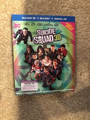 Suicide Squad (3D Bluray+Bluray+Digital HD) Brand New