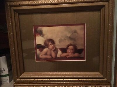 Set of Two Gold Framed RAPHAEL'S ANGELS Double Mounted.
