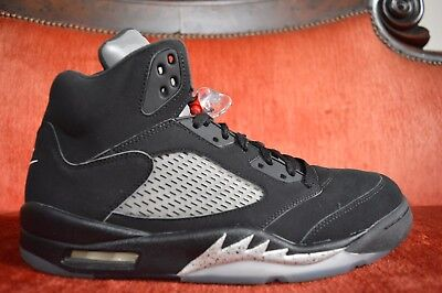 sports shoes 8b024 914d9 Nike Air Jordan Retro 5 V Black Metallic OG 845035 003 Fire Red Silver Size  12