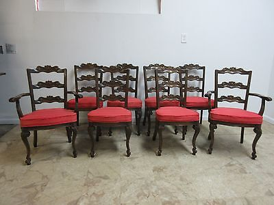 8 Jamestown Lounge French Oak Carved Side Arm Dining Room