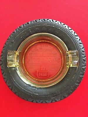 Vintage Firestone Tire Ashtray - 1936 Texas Centennial Central Exposition Dallas