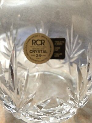 Crystal Whiskey/Liquor Decanter Made In Italy Beautiful!