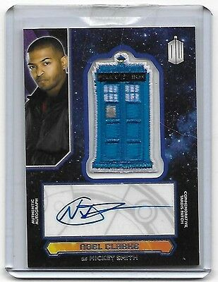 Doctor Who Topps 2015 Tardis Patch Autograph Card Noel Clarke Mickey Smith Auto