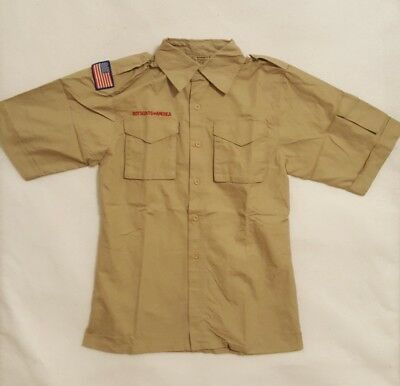 Boy Scouts of America Short Sleeve 100% Cotton Shirt YOUTH Small Medium Large XL