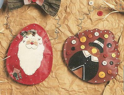 Craft Pattern Instruction Booklet Paper Bag Holiday Ornaments Leisure Arts A66