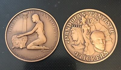 1987 Krewe of Pandora Bronze Mardi Gras Doubloon