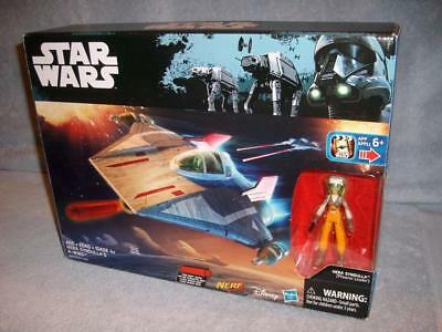 """Hera Syndulla A-Wing Fighter Rebels red Clone Wars vehicle star 3.75 inch/"""" NERF"""