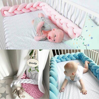 Baby Infant Plush Crib Bumper Bed Bedding Cot Braid Pillow Pad Protector Pillow