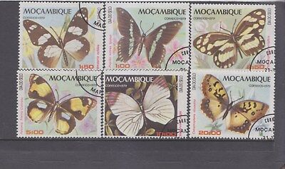 MOZAMBIQUE-1979-BUTTERFLY SET-SG 791-96-CTO-NO HINGE FULL GUM-$4.50-freepost