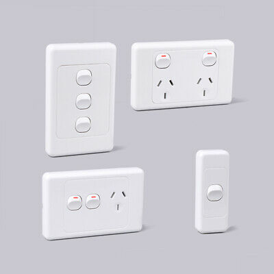 10 X 10 Amp Socket Light Switch Dimmer | Double Pole  GPO Plate LED Power SAA