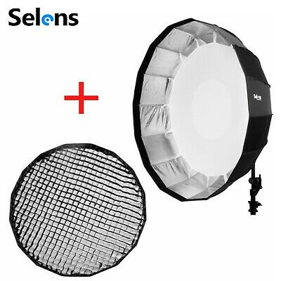 """Selens 41"""" / 105cm Beauty Dish Softbox with Bowens & Grid Mount for Studio Flash"""