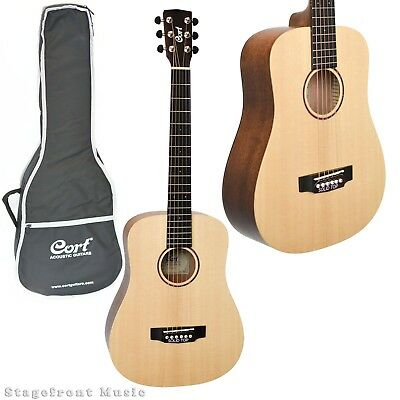 Cort Earth Mini Acoustic Steel String Traveller Guitar Earthm