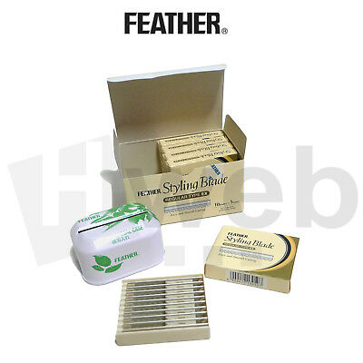 Feather Styling Blade Lame per Barba Professionali Parrucchiere Barbiere 10pz