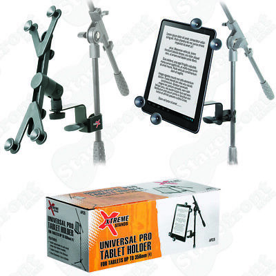 iPAD /TABLET LARGER HOLDER ADJUSTABLE UNIVERSAL FOR MIC & MUSIC STANDS - AP25