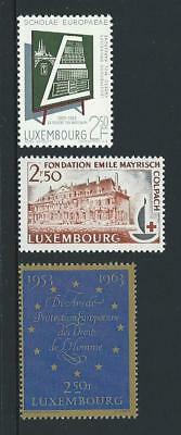 1963 LUXEMBOURG School, Red Cross & Human Rights Issues MNH (Scott 400-402)