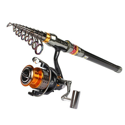 Fishing Rod Reel Combo Telescopic Fishing Rod and Spinning Reel Set